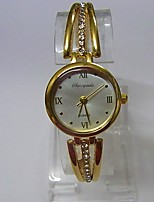 Women's Women Bracelet Watch Quartz Alloy Band Sparkle Casual Gold
