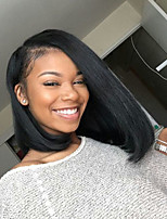 Short BOB Hairstyle Human Virgin Hair 130% Density Lace Front Wig with Baby Hair
