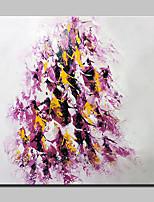 Ручная роспись Абстракция Квадратная,Европейский стиль Modern 1 панель Холст Hang-роспись маслом For Украшение дома