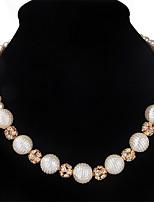 Femme Collier court /Ras-du-cou Col Strass Forme Ronde Imitation de perle StrassCirculaire Imitation de perle Mode euroaméricains Bijoux