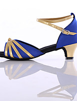 Customizable Women's Dance Shoes Synthetic Latin Heels Customized Heel Indoor
