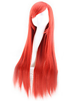 Popular Red Color Wig Synthetic Wigs Straight Hair Cosplay Synthetic Wigs