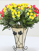 2 Une succursale Polyester Plastique Roses Fleur de Table Fleurs artificielles