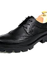 Для мужчин Туфли на шнуровке Баллок обувь Дерматин Весна Лето Осень Зима Свадьба Повседневный Для вечеринки / ужина Для прогулокНа