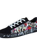 Men's Sneakers Spring Fall Comfort PU Casual Blue Red Black