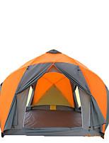 > 8 personnes Tente Double Tente pliable Une pièce Tente de camping >3000mm Fibre de verre Résistant à l'humidité Etanche Respirabilité
