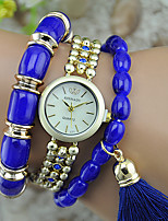 Women's Fashion Watch Bracelet Watch Quartz Plastic Band Bangle