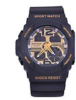 Hombre Reloj Deportivo Reloj Militar Reloj Smart Reloj de Moda Reloj de Pulsera Japonés DigitalLED Dos Husos Horarios Monitores para