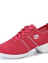 Non Customizable Women's Dance Shoes Fabric Fabric Dance Sneakers / Modern Sneakers Low Heel Outdoor  Black/White/Fuchsia