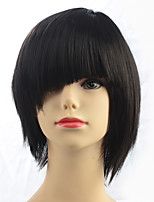 Capless Top Quality Short BOB Black Synthetic Fiber Women Party Hairstyle