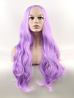 Popular Purple Color Wave Synthetic Cosplay Wigs For Women