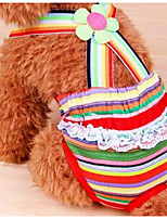 Dog Pants Dog Clothes Summer Flower Cute Fashion Rainbow