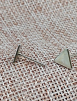 Stud Earrings Basic Alloy Triangle Shape Silvery Black Gold Jewelry For Gift Office & Career Valentine 1 pair