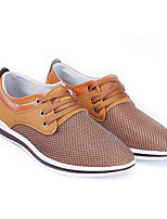 Men's Sneakers Spring Comfort Tulle Casual Camel Blue Gray