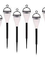 6PCS Solar Color Changing Lawn Light Outdoor Decorative Landscape Light Waterproof with Stake for Garden desk Hanging Lantern Lamp