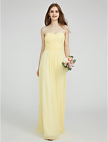 LAN TING BRIDE Floor-length Sweetheart Bridesmaid Dress - Lace-up Sleeveless Chiffon