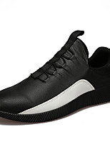Men's Sneakers Spring Summer Comfort PU Outdoor Athletic Casual Flat Heel Gore Black White Running