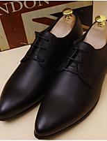 -Для мужчин-Для офиса-Кожа-На низком каблуке-Удобная обувь-Обувь на каблуках