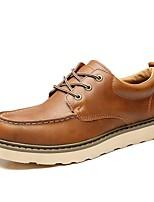 Темно-русый-Для мужчин-Для прогулок Для офиса Повседневный Work & Safety-Наппа LeatherУдобная обувь-Туфли на шнуровке