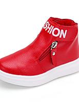 -Девочки-Для прогулок-Полиуретан-На плоской подошве-Удобная обувь-Ботинки