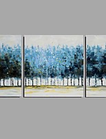 Hand-Painted Abstract Horizontal,Modern European Style Three Panels Canvas Oil Painting For Home Decoration