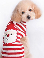 Dog Coat Sweater Dog Clothes Winter Cartoon Cute Fashion Casual/Daily Christmas Green Red