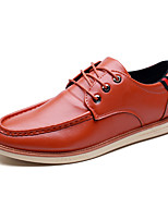 Men's Oxfords Clogs & Mules Spring Fall PU Wedding Outdoor Office & Career Casual Party & Evening Flat Heel Lace-up Others Black Brown