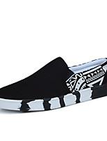 Белый Черный Синий-Для мужчин-Повседневный-ПолиуретанУдобная обувь-Мокасины и Свитер
