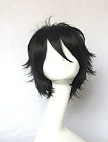 The Instructor of Aerial Combat Wizard Candidates Kanata Age Black Short Cosplay Wig