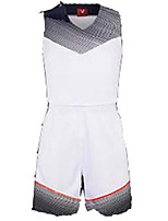361 ° ® sacs à main manches courtes pour tenues de basketball / costumes respirants confortables blanc noir blanc noir