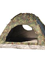 3-4 personnes Tente Unique Tente pliable Une pièce Tente de camping 1000-1500 mm Fibre de verre OxfordRésistant à l'humidité Etanche