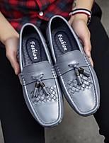 Sapatilha masculina conforto couro tule casual azul marrom prata preto