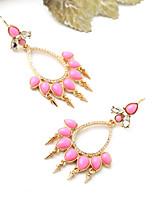Boucles d'oreille gitane Cristal Mode Personnalisé euroaméricains Rouge Bijoux Pour Mariage Soirée Anniversaire 1 paire