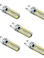 HKV® Dimmable G9 G4 G8 GY6.35 E11 5W 80LED 4014SMD 400-500Lm Warm White Cool White LED Bi-pin Lights AC 110V / AC 220V 5 pcs