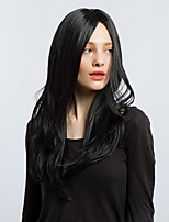 MAYSU Natural Black Long Straight Hair Synthetic Wig Attractive    Woman hair