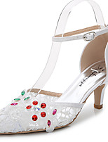 Damen-Sandalen-Hochzeit Outddor Büro Kleid Lässig Party & Festivität-Kunststoff Seide maßgeschneiderte Werkstoffe-Stöckelabsatz-D'Orsay