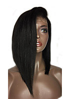 Hot Bob Full Lace Human Hair Wigs with Baby Hair Brazilian Virgin Human Hair Wigs for Black Women 10''-14''Short Bob Lace Wig Natural Color In Stock