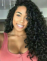 Kinky Curly  150% Density Natural Color Lace Front Wig Human Virgin Hair  Wig for Black Women
