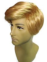 Presidente da peruca de trunfo dos homens dourados da peruca cabelo reto curto 4 polegadas