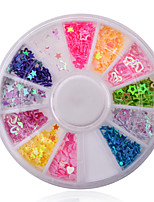 Nail Art Mixed Shapes & Colors Nail Stick Sequins Hollow Heart Star Flowers Wheel