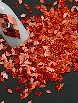 1 bouteille nouvelle mode charmante rouge ongle art diy beauté rayure laser rhombus finition tranche décoration paillette éblouissante