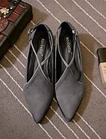 Women's Heels Light Up Shoes Cowhide Office & Career Casual Low Heel Gray Black