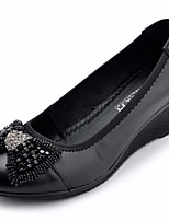 Women's Sandals Spring Comfort PU Casual Wedge Heel Camel Blue Black