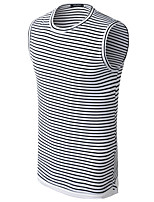 4 Colors Plus Size M-3XL Men's Casual/Daily Simple Summer Tank TopSolid Print Round Neck Sleeveless Cotton Medium