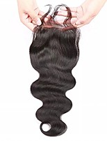 Brazilian Body Wave  Human Hair 130% Density 4x4Lace Closure Bleached Knots