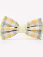 The Fashion Leisure Clothing Accessories CB01905 Cotton Men's Plaid Bow Tie