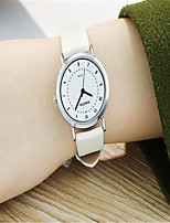 Women's Fashion Watch Quartz Leather Band White Brown