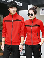 Unisex Long Sleeve Running Tracksuit Breathable Sports Wear Leisure Sports Cotton Loose