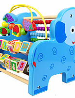 Building Blocks Educational Toy Toy Abacuses For Gift  Building Blocks Leisure Hobby Elephant Wood 2 to 4 Years 5 to 7 Years Toys