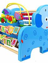 Blocs de Construction Jouet Educatif Jeu de Boulier Pour cadeau Blocs de Construction Loisirs Eléphant Bois 2 à 4 ans 5 à 7 ans Jouets